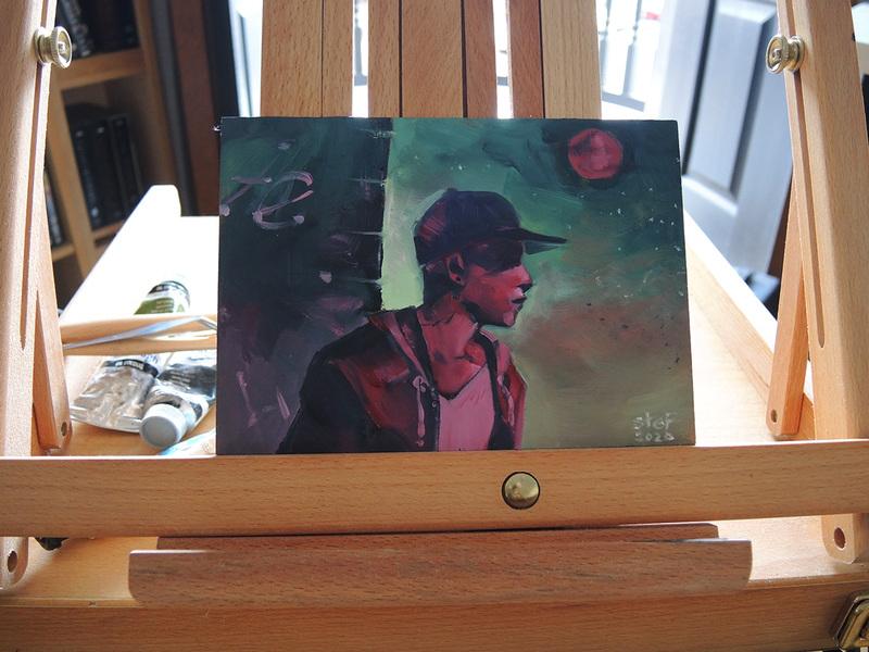 Art by Stef Moony - Oil on Hardboard 2020