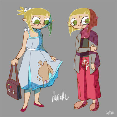 Art by Stefanie M. - Character concept for Hariette