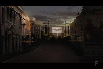 Art by Stefanie M. - Nightfall concept made for a Sony Pictures event, in collaboration with Moment Factory