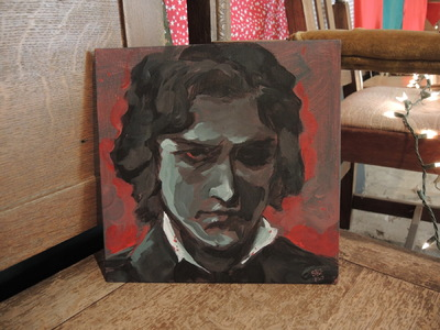 Art by Stefanie Meunier - Acrylic study of Russian actor Leonid Sobinov as Lensky