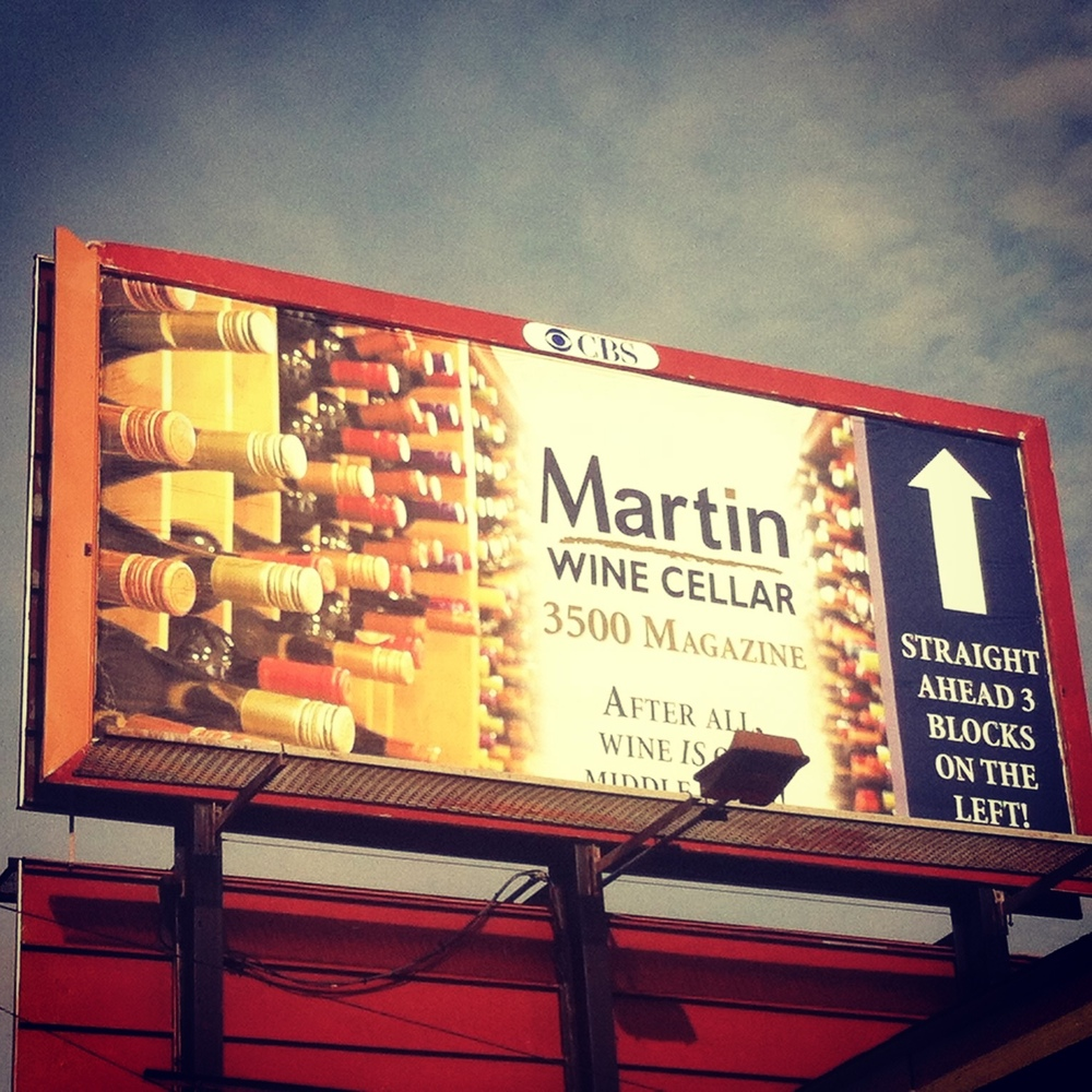 Sara Schoenberger - Billboard for Martin Wine Cellar 2013, Magazine Street, New Orleans