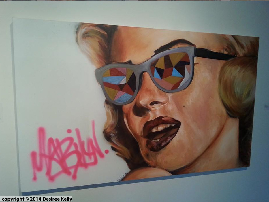 Desiree Kelly Art - Detroit based artist - Marilyn (AVAILABLE --CONTACT FOR PRICE