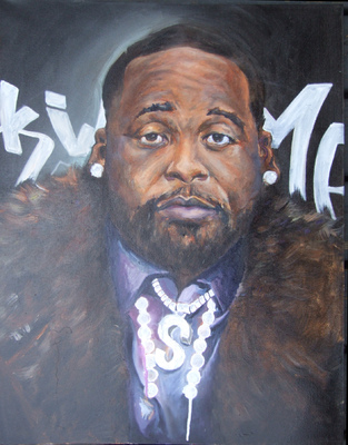 Desiree Kelly Art - Detroit based artist - King of Detroit (NFS)