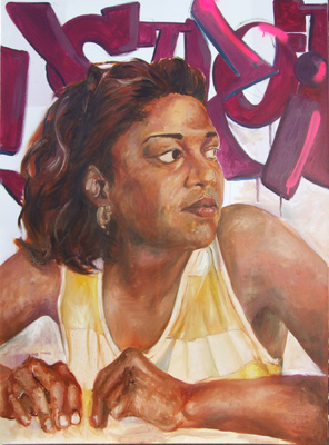 Desiree Kelly Art - Detroit based artist - Self Portrait (original sold)