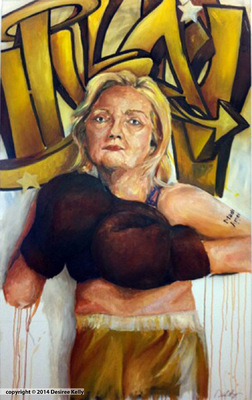 Desiree Kelly Art - Detroit based artist - Hillary (AVAILABLE --CONTACT FOR PRICE