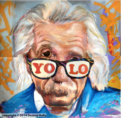 Desiree Kelly Art - Detroit based artist - Einstein (Limited Edition Prints available)