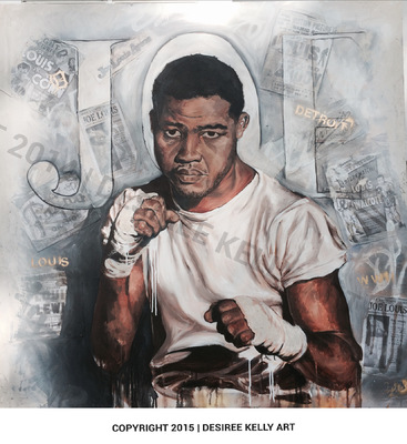 Desiree Kelly Art - Detroit based artist - Joe Louis (sold)