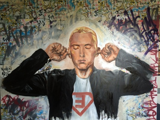 Desiree Kelly Art - Detroit based artist - eminem (sold)