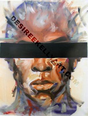 Desiree Kelly Art - Detroit based artist - Faces/ Gender Neutral