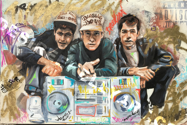 Desiree Kelly Art - Detroit based artist - Beastie Boys (sold)