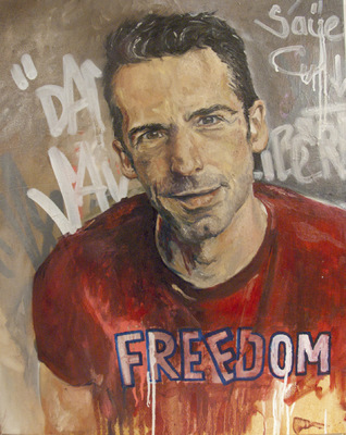 Desiree Kelly Art - Detroit based artist - Dan Savage (AVAILABLE --CONTACT FOR PRICE