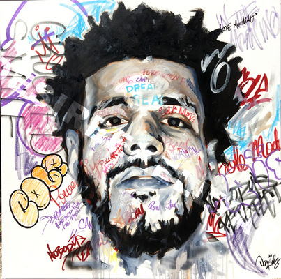Desiree Kelly Art - Detroit based artist - J Cole
