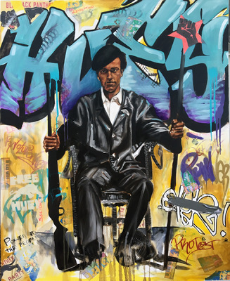 Desiree Kelly Art - Detroit based artist - Huey Newton