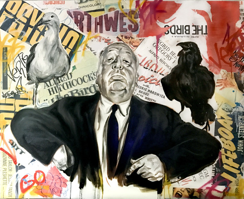 Desiree Kelly Art - Detroit based artist - Alfred Hitchcock