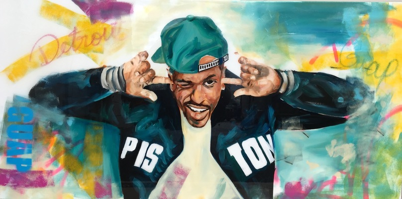 Desiree Kelly Art - Detroit based artist - Big Sean (Sold)