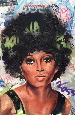 Desiree Kelly Art - Detroit based artist - Diana Ross (sold)