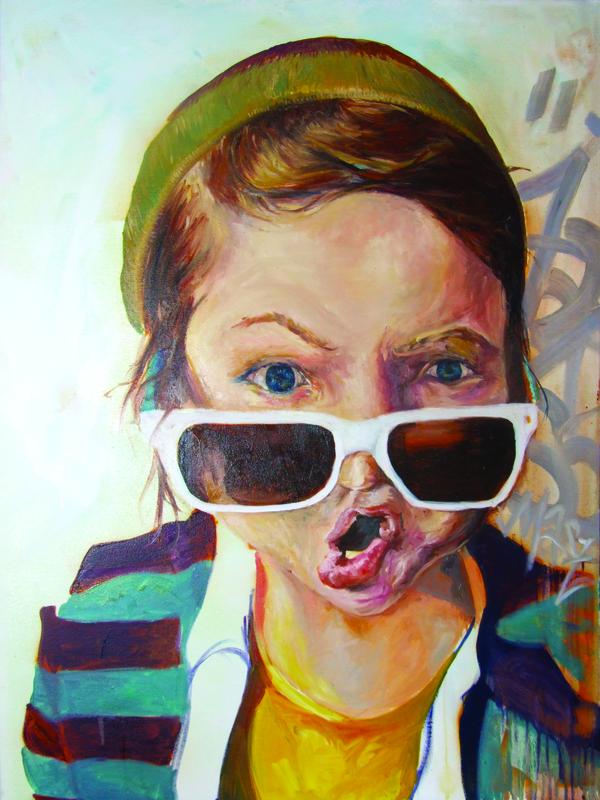 Desiree Kelly Art - Detroit based artist - Jak Sie Masz (sold)