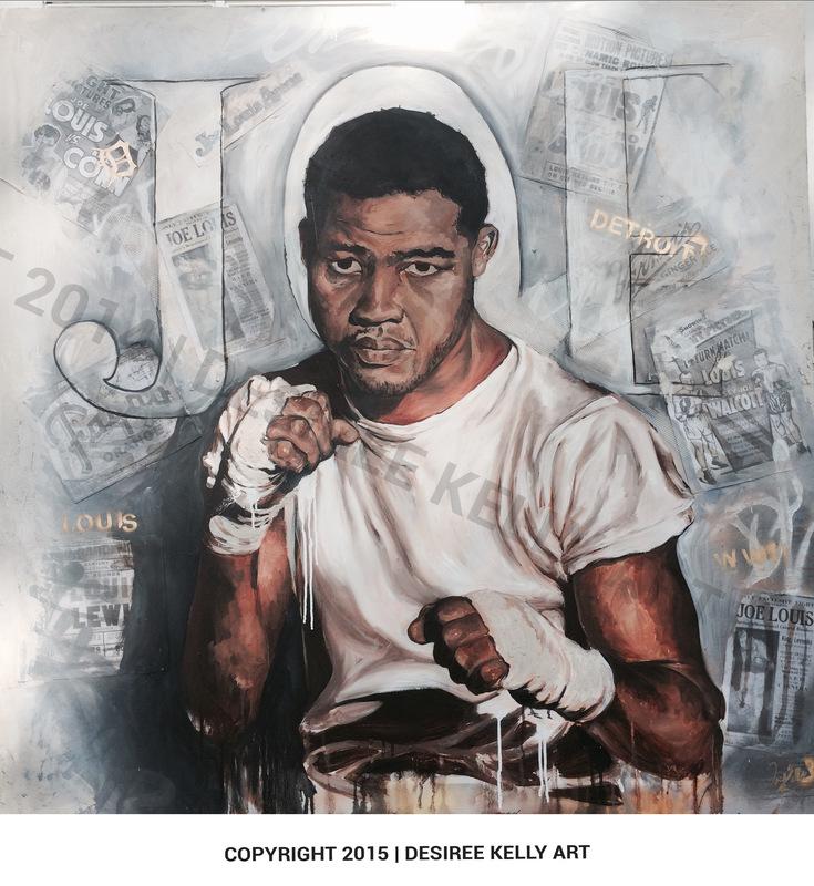 Desiree Kelly Art - Detroit based artist - Joe Louis (sold)