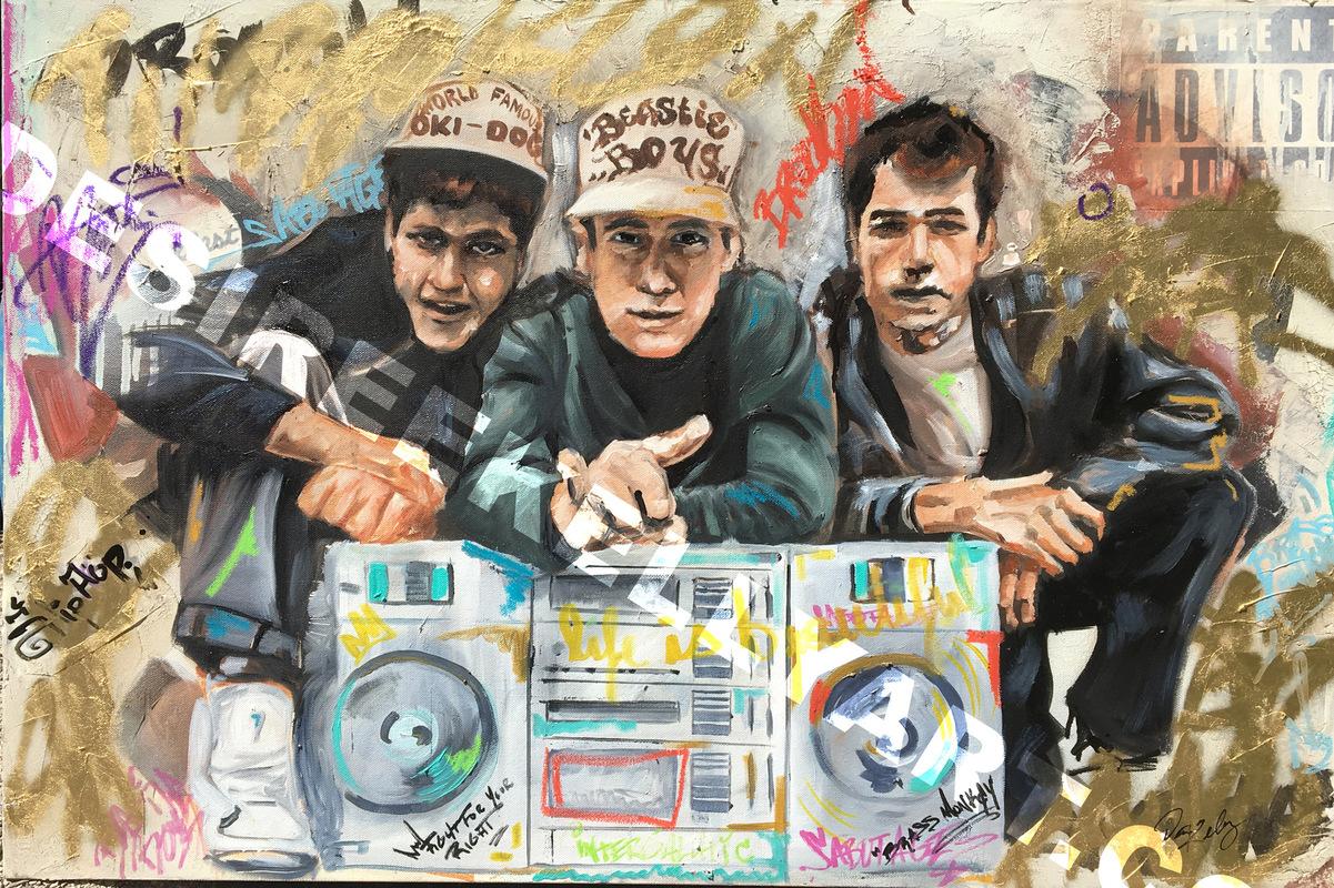 Desiree Kelly Art - Detroit based artist - Beastie Boys (sold)