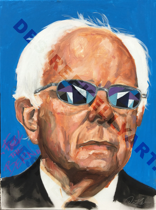 Desiree Kelly Art - Detroit based artist - Bernie (sold)