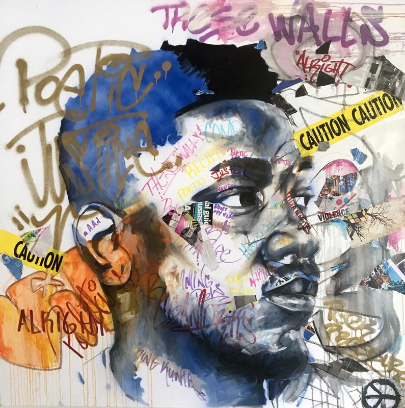Desiree Kelly Art - Detroit based artist - These Walls (Kendrick Lamar) (sold)