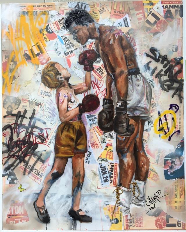 Desiree Kelly Art - Detroit based artist - Ali (Sold)