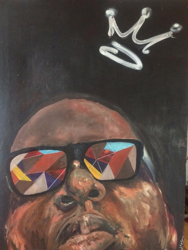 Desiree Kelly Art - Detroit based artist - biggie (sold)