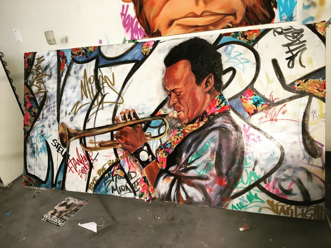 Desiree Kelly Art - Detroit based artist - Miles Davis (sold)