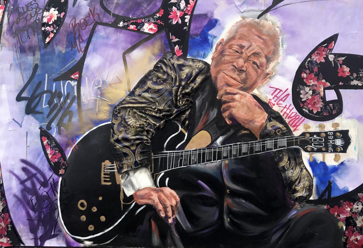 Desiree Kelly Art - Detroit based artist - B B KING