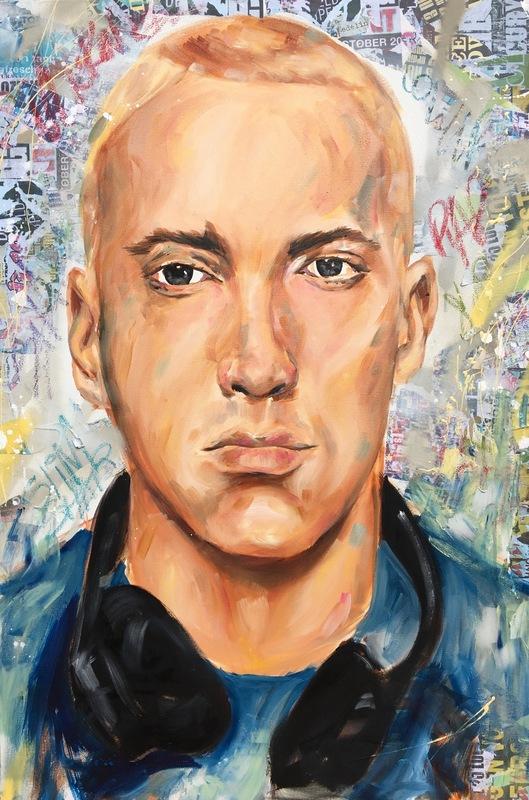 Desiree Kelly Art - Detroit based artist - Eminem (sold)