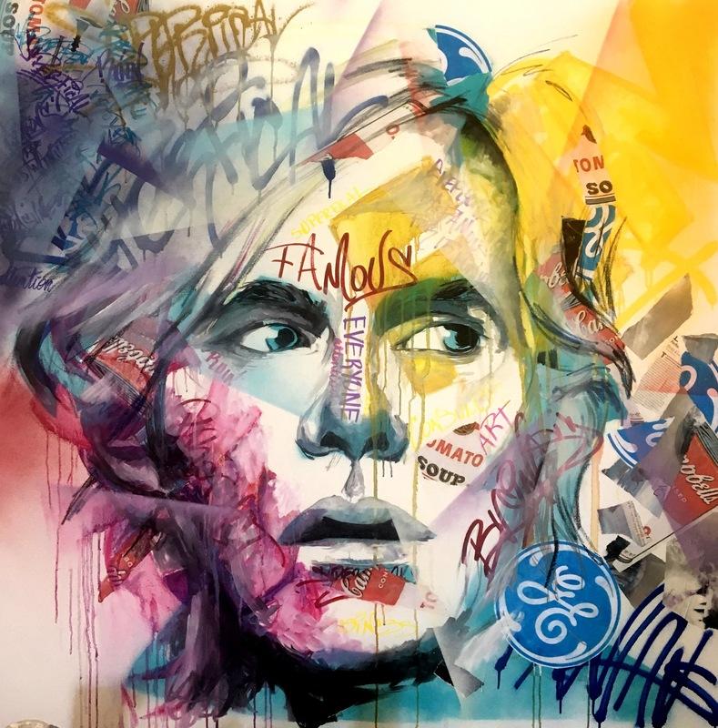 Desiree Kelly Art - Detroit based artist - Warhol (sold)