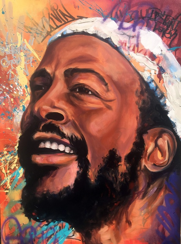 Desiree Kelly Art - Detroit based artist - Marvin Gaye (sold)