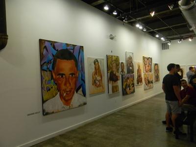 Desiree Kelly Art - Detroit based artist - at Redbull House of Art