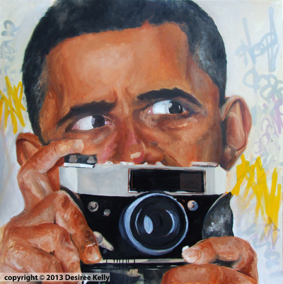 Desiree Kelly Art - Detroit based artist - Obama Cam (Sold)