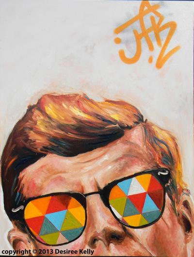 Desiree Kelly Art - Detroit based artist - JK (original sold)