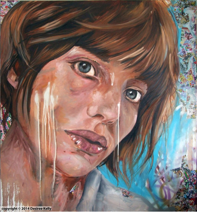 Desiree Kelly Art - Detroit based artist - Lost Love (sold)