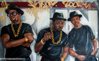 Desiree Kelly Art - Detroit based artist - Its tricky (on display at Kuzzos) (AVAILABLE --CONTACT FOR PRICE