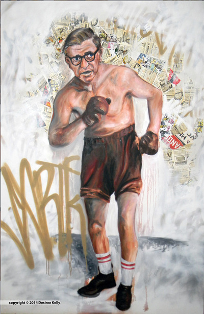 Desiree Kelly Art - Detroit based artist - Sartre (AVAILABLE --CONTACT FOR PRICE