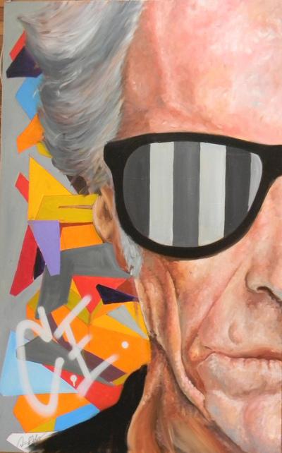 Desiree Kelly Art - Detroit based artist - Clinton Eastwood (SOLD)