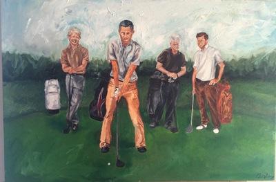 Desiree Kelly Art - Detroit based artist - Democratic Presidents (sold)