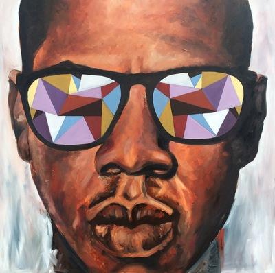 Desiree Kelly Art - Detroit based artist - jay-z (sold)