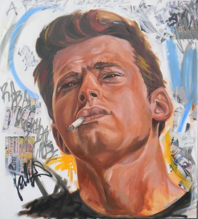 Desiree Kelly Art - Detroit based artist - James Dean (sold)