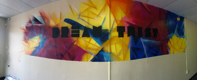 Desiree Kelly Art - Detroit based artist - Dream Twist Mural