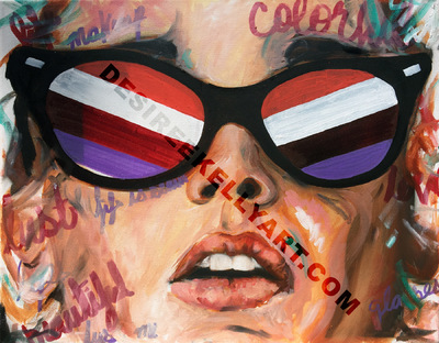 Desiree Kelly Art - Detroit based artist - lips (AVAILABLE --CONTACT FOR PRICE