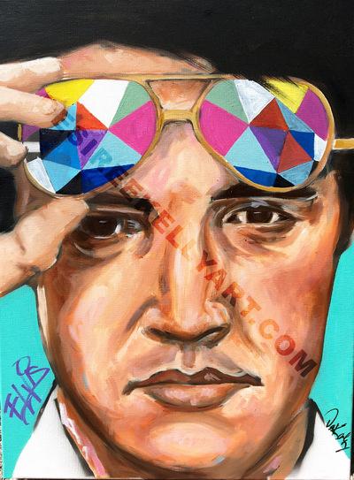 Desiree Kelly Art - Detroit based artist - Elvis (sold)