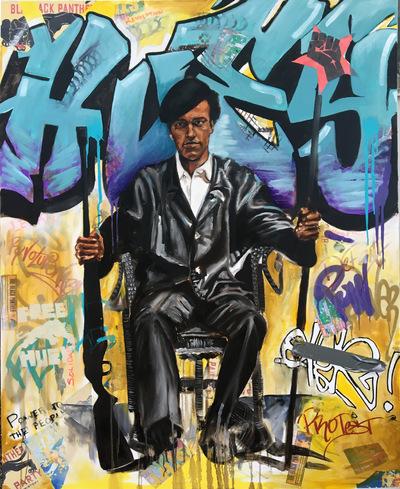 Desiree Kelly Art - Detroit based artist - Huey Newton