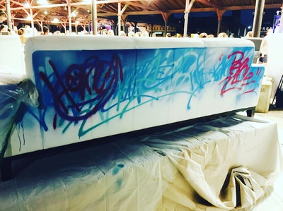 Desiree Kelly Art - Detroit based artist - Couch for a Cause @ Eastern Market After Dark 2016