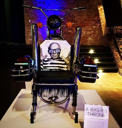 Desiree Kelly Art - Detroit based artist - Chairs for Charity @ Hour Detroit charity auction event