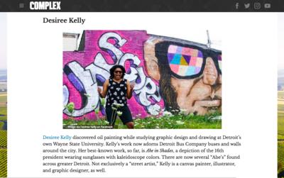Desiree Kelly Art - Detroit based artist - Complex Magazine 2016