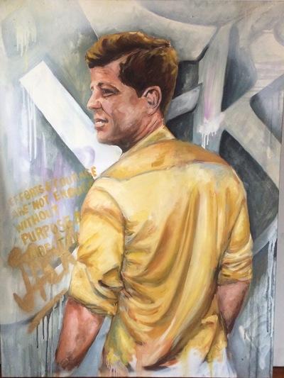 Desiree Kelly Art - Detroit based artist - golden boy (sold)